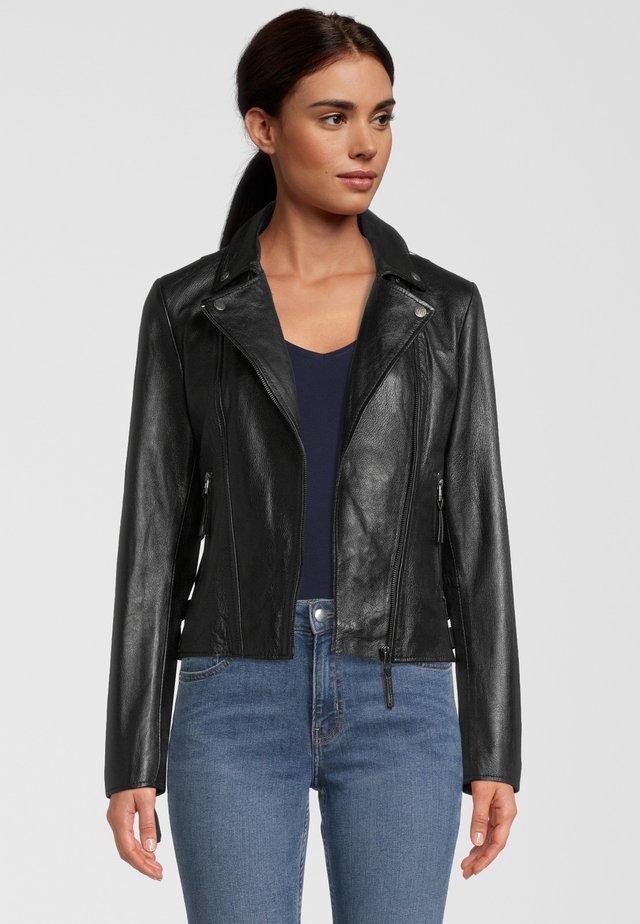 CAMILLE - Leather jacket - black