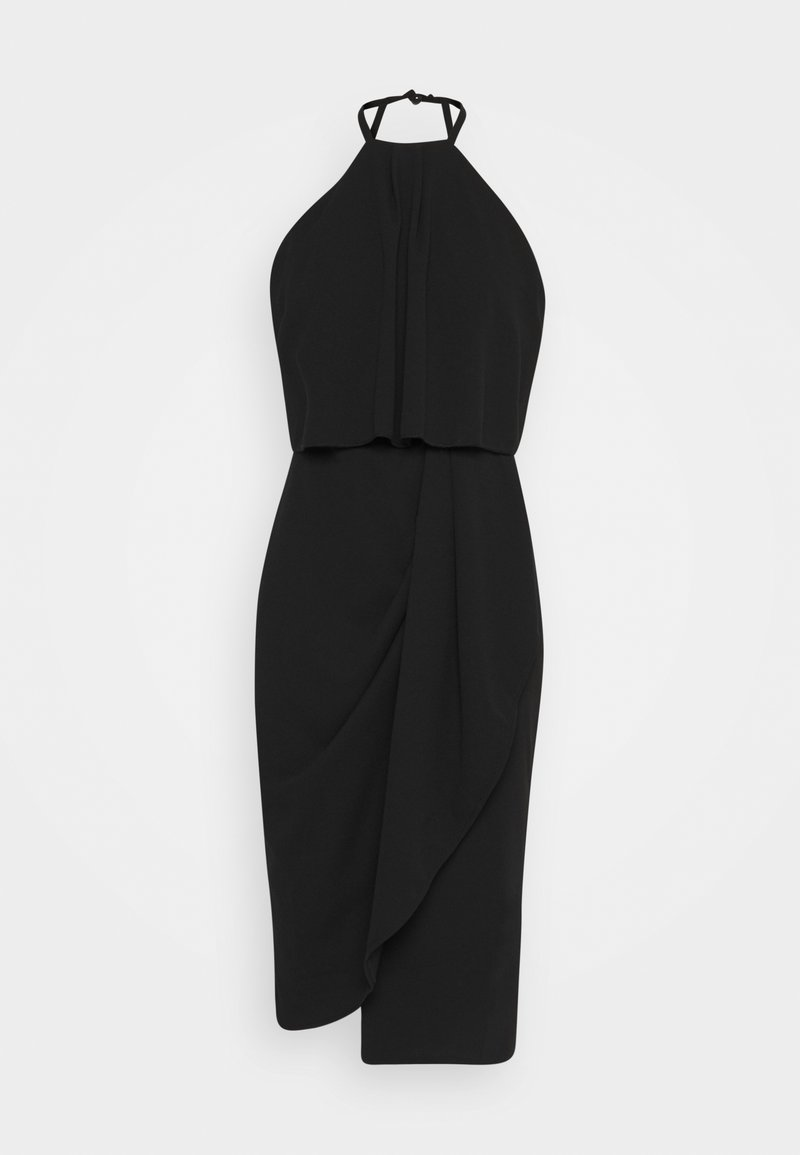 WAL G. - HALTER KNECK FITTED MIDI DRESS - Robe en jersey - black