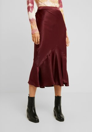PLAIN FLOUNCE - Maxi skirt - bordeaux
