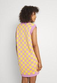 The Ragged Priest - VINYL DRESS - Jumper dress - yellow/lilac - 2