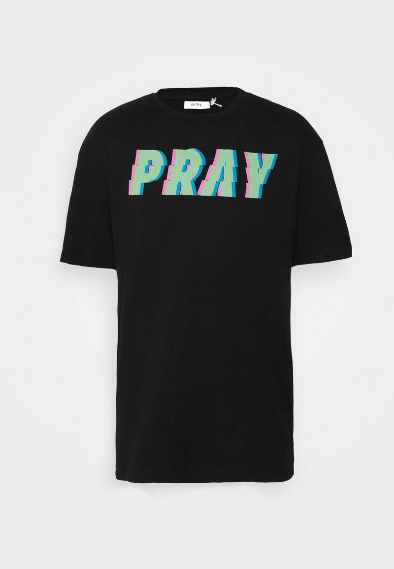 PRAY - UNISEX ALL NIGHTER - Print T-shirt - black
