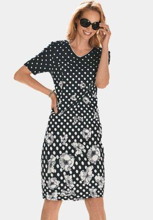 Jersey dress - schwarz / gemustert