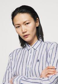Polo Ralph Lauren - STRIPE LONG SLEEVE - Button-down blouse - white/blue - 4