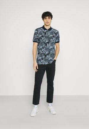 FLORAL - Polo shirt - dark blue