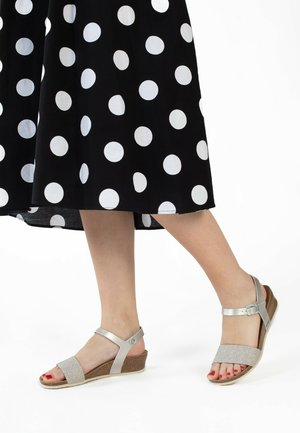 LEGANES - Wedge sandals - silver