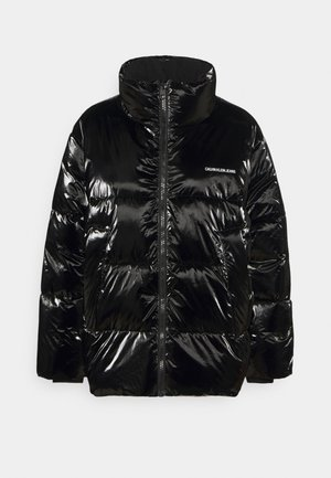 HIGH SHINE PUFFER - Vinterjakke - ck black