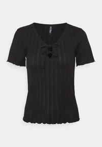 PCTHEIA TALL - Print T-shirt - black