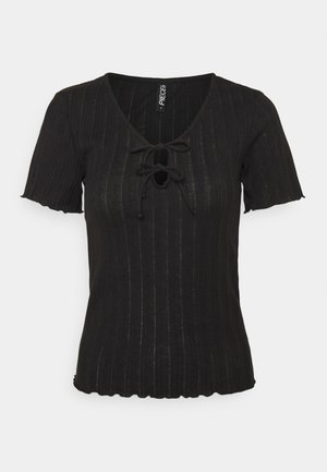 PCTHEIA TALL - T-shirt print - black