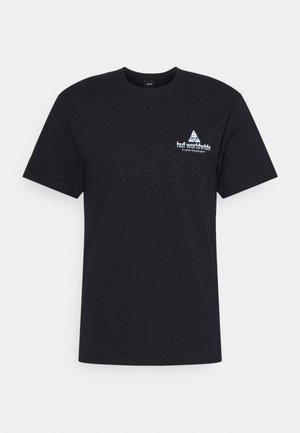 PEAK TECH TEE - T-shirt imprimé - black