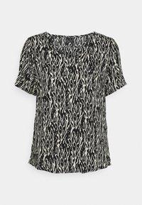 VMNADS V NECK BLOUSE - Print T-shirt - birch/black