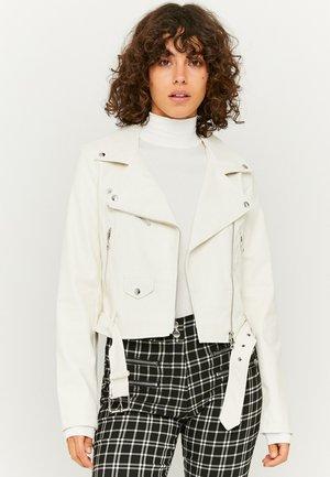 Faux leather jacket - white