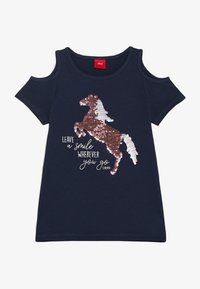 s.Oliver - Print T-shirt - dark blue - 0