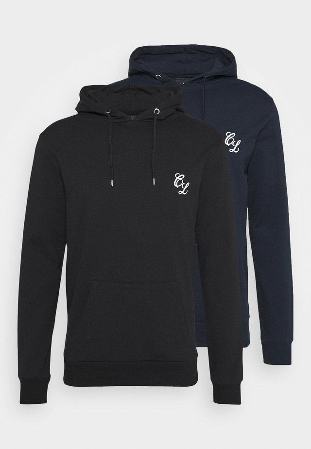 SIGNATURE HOODY 2 PACK - Felpa - black/navy