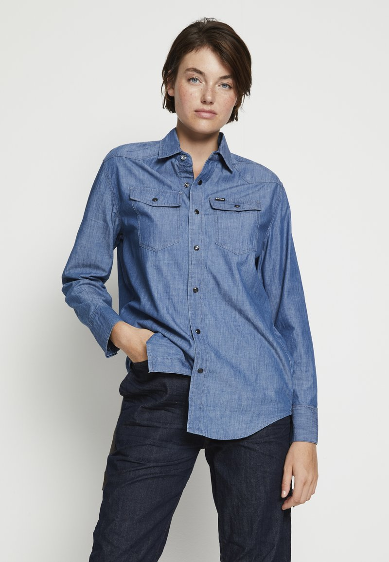 G-Star - RELAXED - Button-down blouse - rinsed