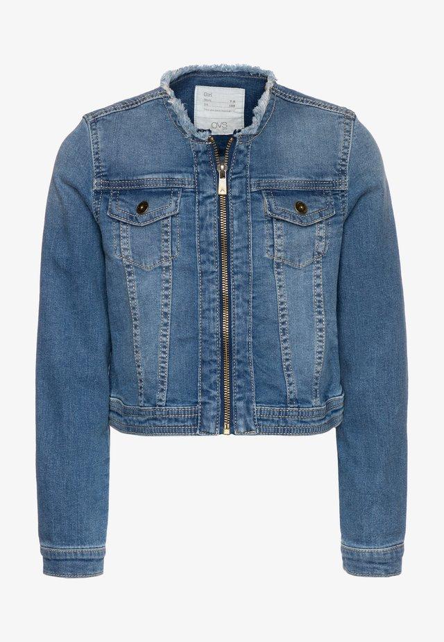 FULL ZIP - Denim jacket - ensign blue