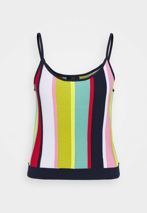 MULTI STRIPE CROP TANK - Strickpullover - navy/bohemian rose/multi