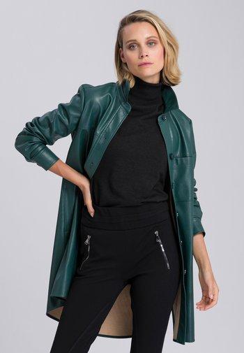 Button-down blouse - super dark jade
