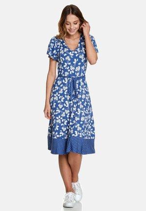 MON AVIGNON  - Jersey dress - blau