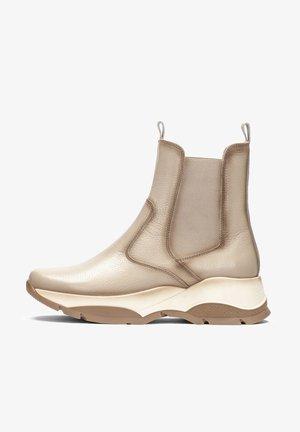ANDES - Platform ankle boots - beige