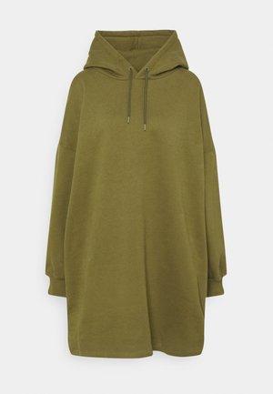 OVERSIZED HOODIE DRESS - Robe d'été - khaki