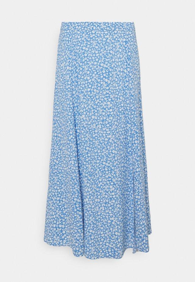 ELLIE SPLIT SKIRT - Áčková sukně - blue