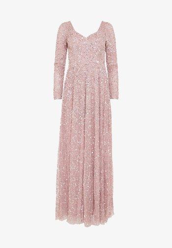 Společenské šaty - frosted pink