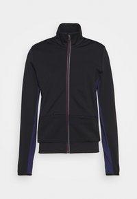 MENS ZIP TRACK - Zip-up sweatshirt - black