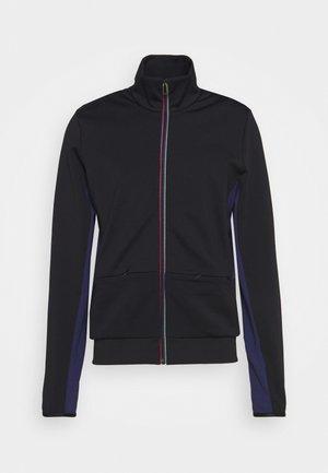 MENS ZIP TRACK - Zip-up hoodie - black