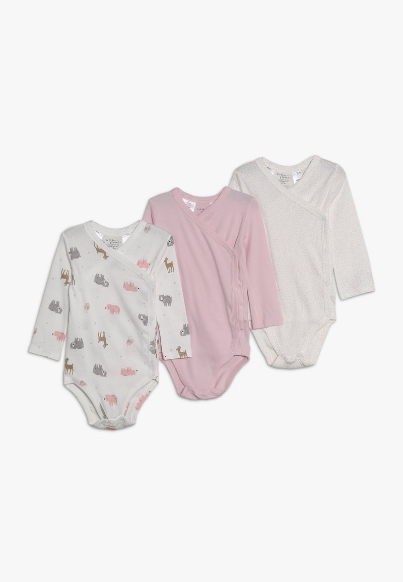 Carter's - GIRL SIDE SNAP BABY 3 PACK - Body - light pink