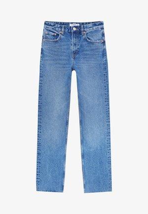 MIT SCHLITZ - Straight leg jeans - dark-blue denim