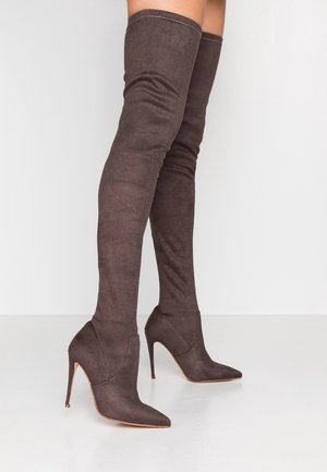 DOMINIQUE - High heeled boots - dark grey