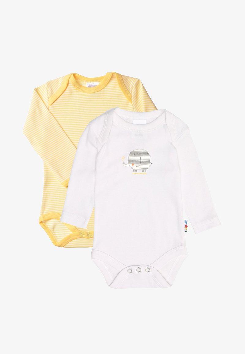 Liliput - IM PRAKTISCHEN 2ER-PACK - Body - gelb geringelt/weiß mit frontdruck