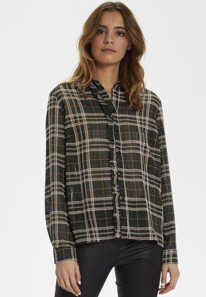CUANTILLA - Button-down blouse - black