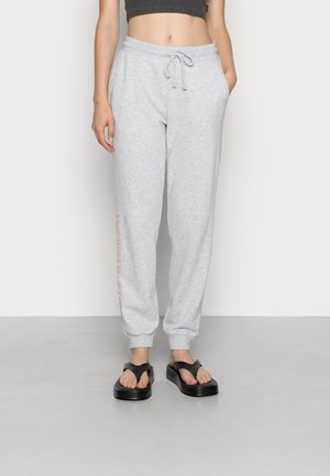 BRANDED SLIM JOGGER - Pantaloni sportivi - heather gray