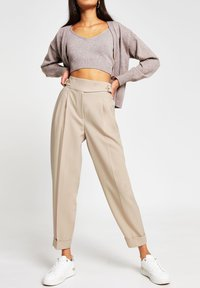 River Island - BALLOON SHAPED PEG  - Trousers - cream - 1