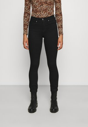 ONLWAUW LIFE MID JOGGER - Jeans Skinny Fit - black denim