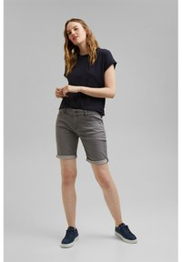 Esprit - Denim shorts - grey medium washed - 1