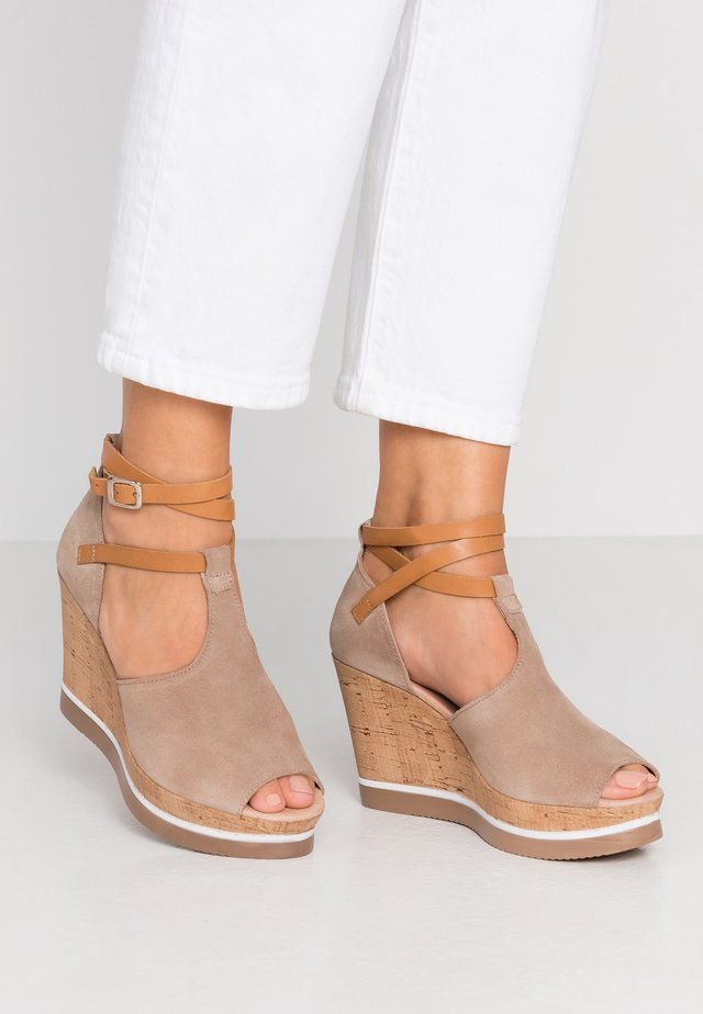 MARY - High heeled sandals - taupe