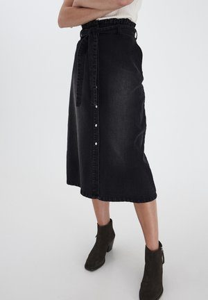 A-line skirt - washed black
