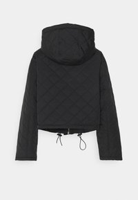 Missguided - HOODED CROPPED QUILTED JACKET - Lett jakke - black - 1