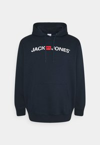 Jack & Jones - JJECORP OLD LOGO HOOD - Hoodie - navy blazer - 0