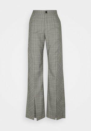 TUXEDO TROUSERS - Trousers - grey