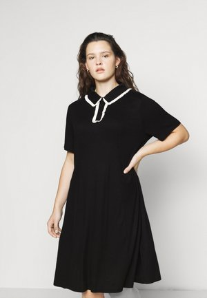 GLAMOUROUS COLLAR DRESS - Freizeitkleid - black/white