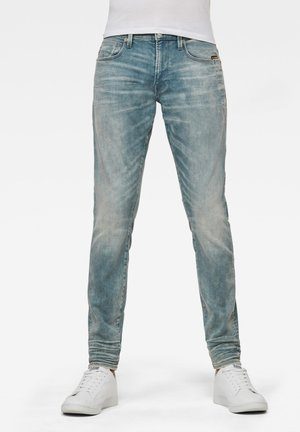 LANCET SKINNY - Jeans Skinny Fit - sun faded scanda blue