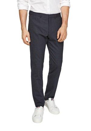 Suit trousers - dark blue dots