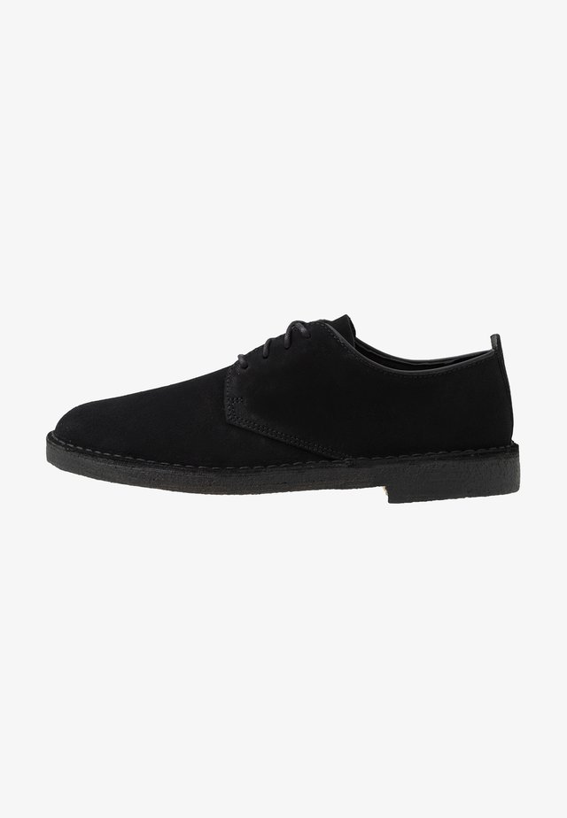 DESERT LONDON - Casual snøresko - black
