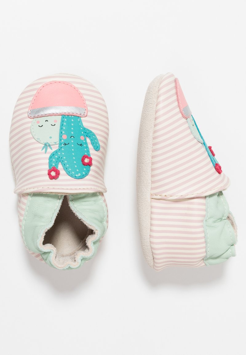 Robeez - CACTUS - First shoes - blanc/rose