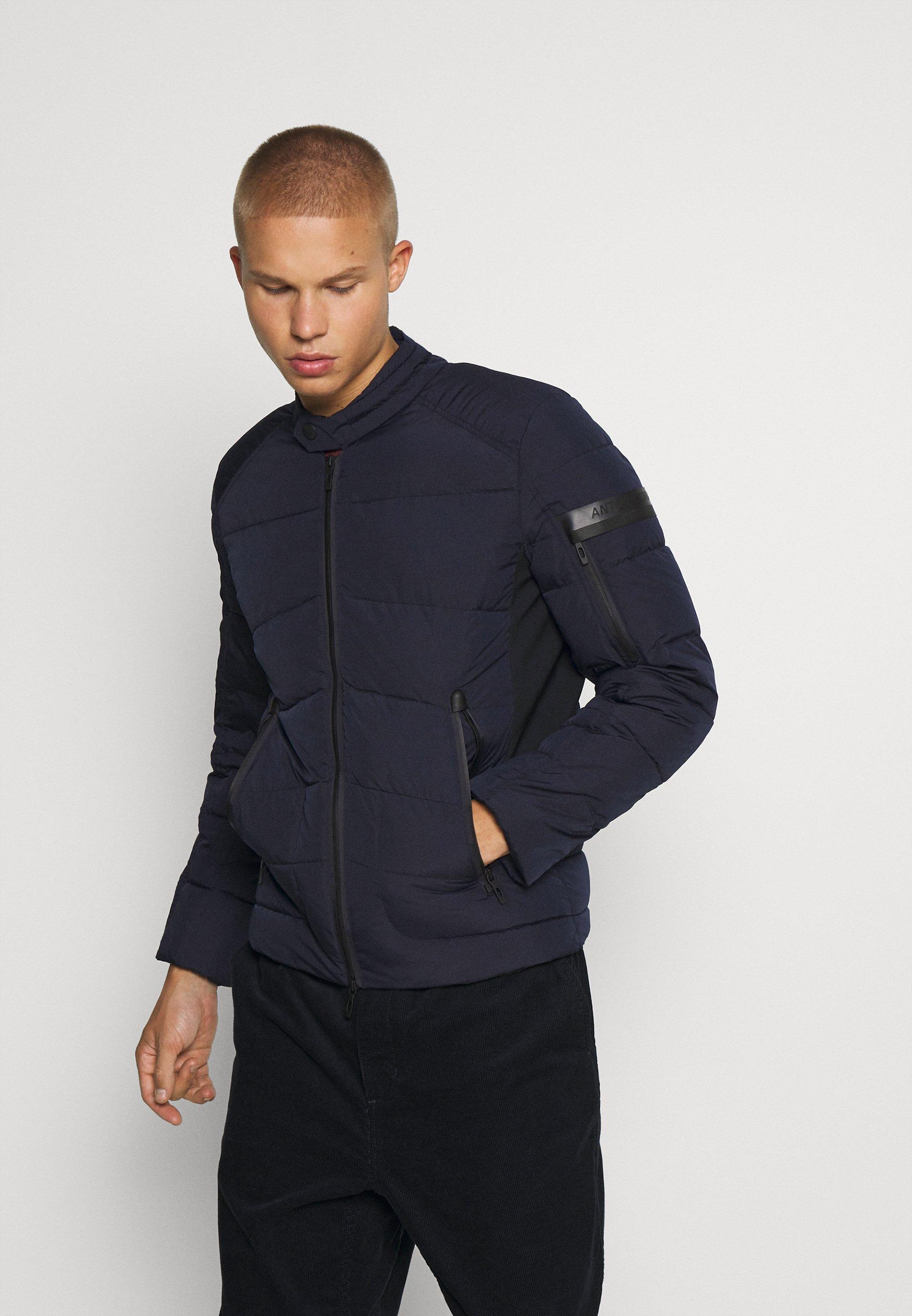 Men COAT IN TECHNO FABRIC CONTRAST IN COMPOUNDNYLON - Light jacket