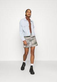 American Eagle - ALINE SKIRT - Mini skirt - olive - 1