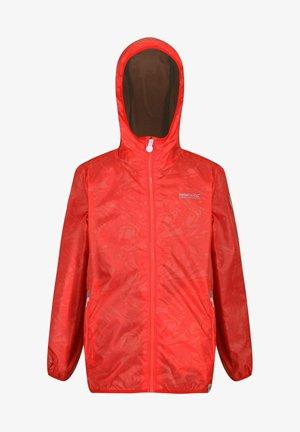 Waterproof jacket - fiery coral